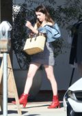 Emma Roberts gets an early Dinner at Joan's on Third, Los Angeles