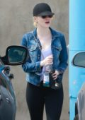 Emma Stone leaves a Yoga Studio after a Morning Workout Session in Los Angeles