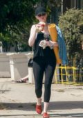 Emma Stone leaving her favorite Yoga Studio with a Friend in Los Angeles
