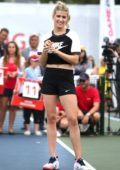 Eugenie Bouchard attending the Rogers Cup 60 Second Scramble in Toronto, Canada