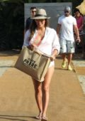 Eva Longoria relaxing by the Beach in Marbella, Spain