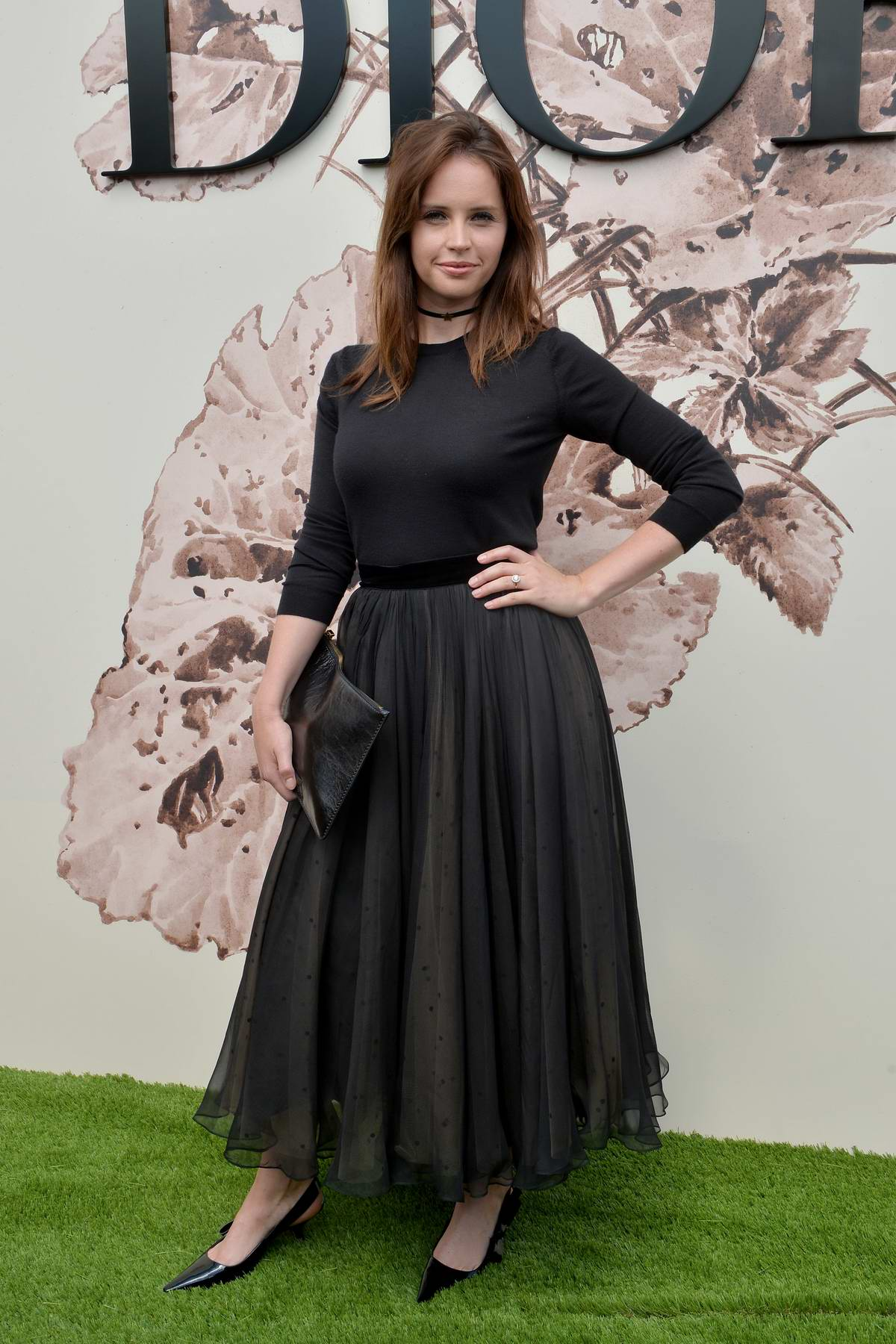"Felicity Jones at Christian Dior ""Couturier du Reve"" Exhibition Launch Celebrating 70 years of Creation in Paris, France"