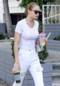 Gigi Hadid rocking All White while out in Bevely Hills, Los Angeles
