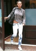 Heidi Klum leaves the Greenwich Hotel for a Photoshoot in New York