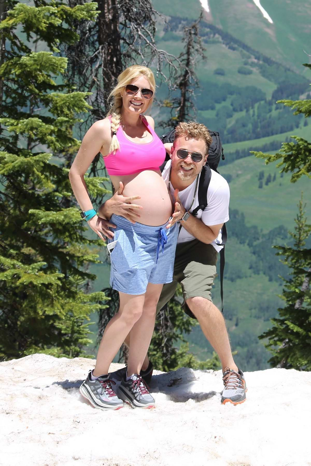 Heidi Montag and Spencer Pratt enjoying themselves in Mountain of Crested Butte, Colorado