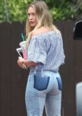 Hilary Duff in Blue Jeans and Summer Top out in Studio City, Los Angeles
