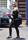 Hilary Duff is spotted meeting her Ex Mike Comrie for Lunch at La Conversation in West Hollywood