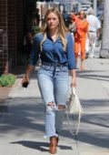 Hilary Duff is spotted out for a solo stroll in Beverly Hills