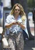 Hilary Duff leaves a Spa in Santa Monica, Los Angeles