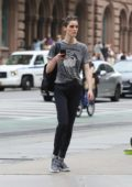 Hilary Rhoda leaving the Gym in New York