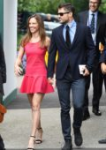 Hilary Swank and Philip Schneider arriving for Day 12 at the Wimbledon 2017