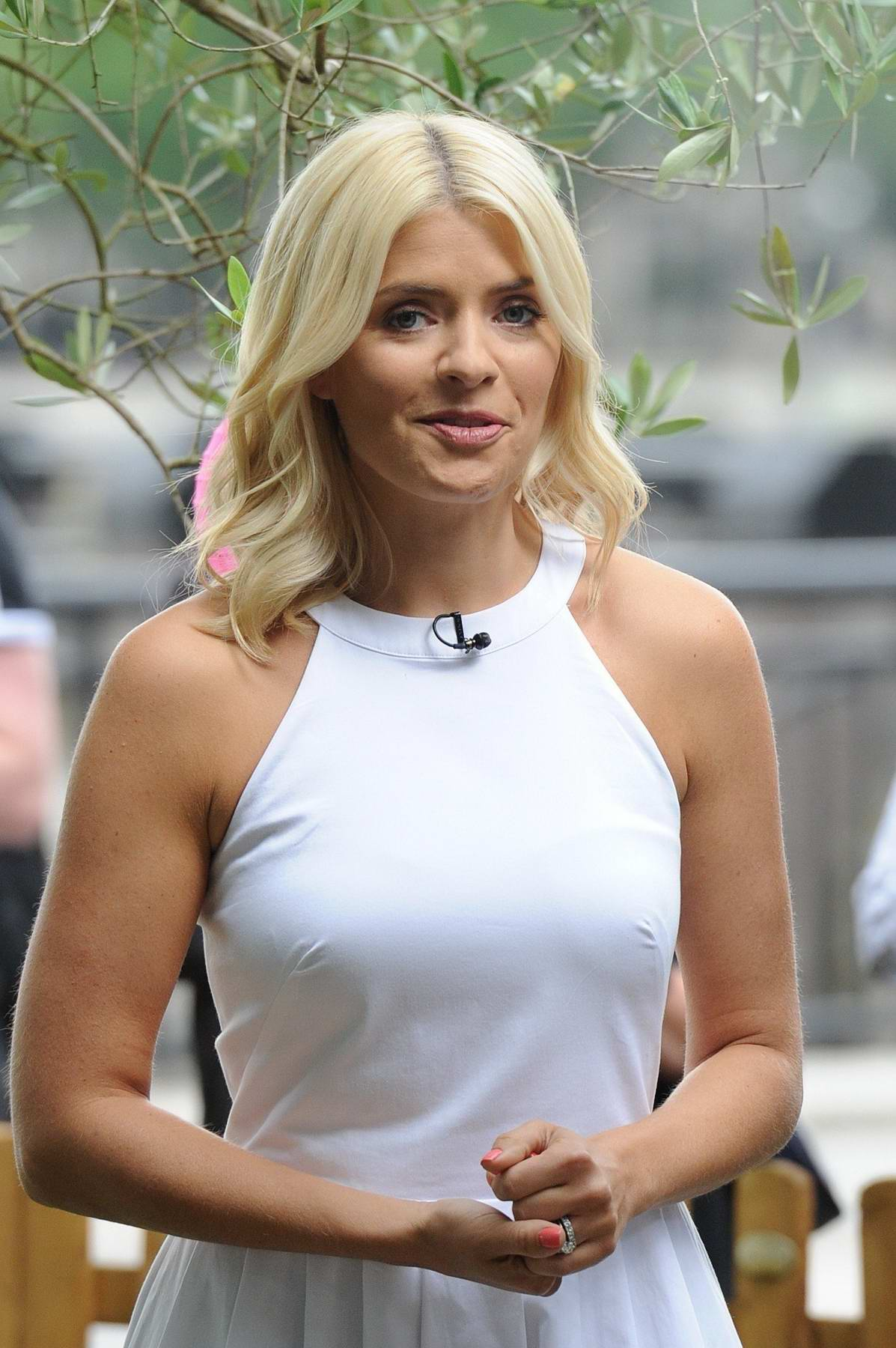 Holly Willoughby on the Set of the ITV Studios Reality TV Show in London