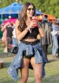 Imogen Thomas attends Lovebox Festival with Friends at Victoria Park in London