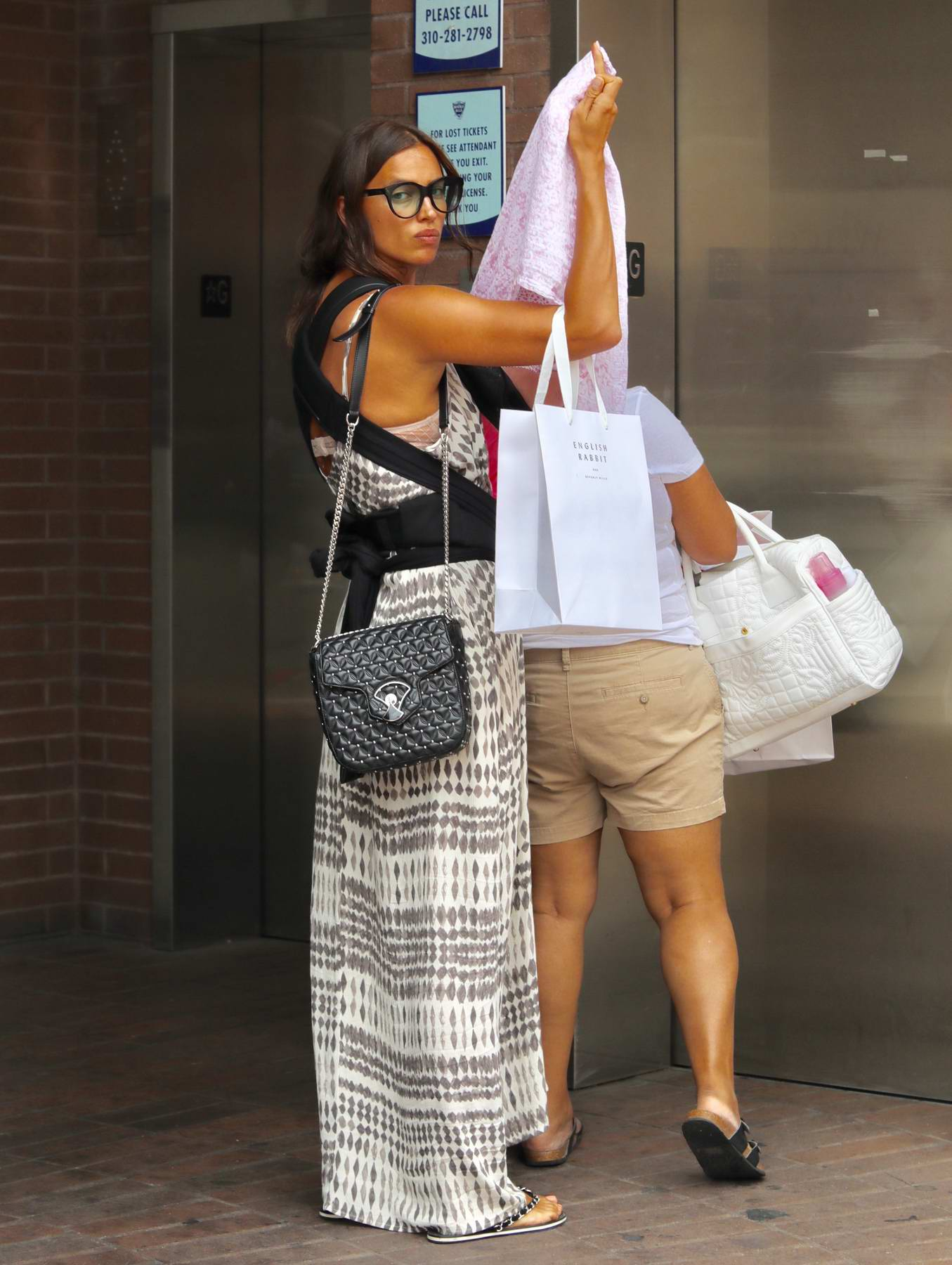 Irina Shayk out Shopping with her Baby in Beverly Hills