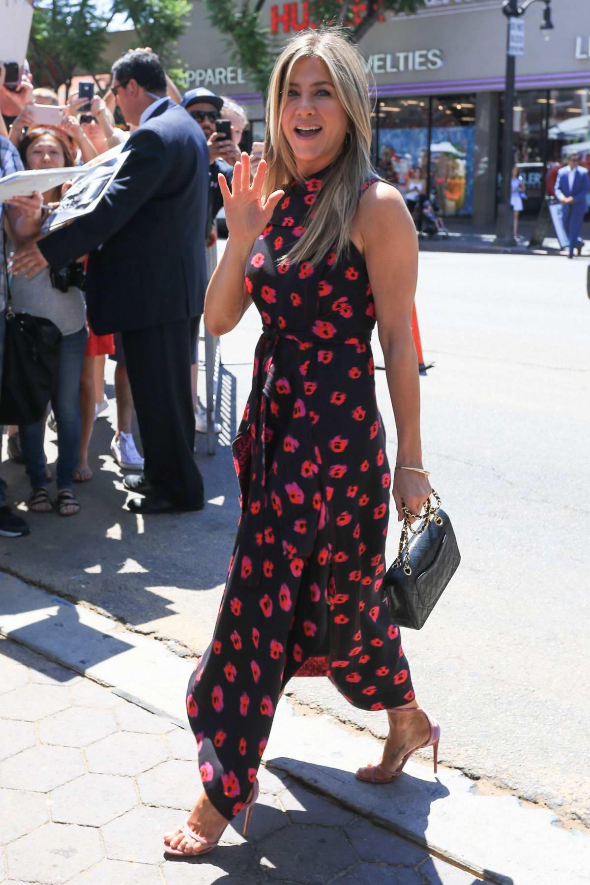 Jennifer Aniston at Jason Bateman's Hollywood Walk of Fame ceremony in Hollywood