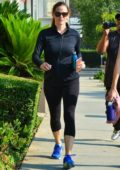 Jennifer Garner looked in a good mood while out for her Workout in Brentwood, Los Angeles