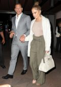 Jennifer Lopez and Alex Rodriguez leaving The Pool after a dinner on his birthday in New York