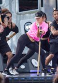 Jennifer Lopez Rehearses for a Live-Taping ahead of the Macy's 4th of July Firework Show in New York