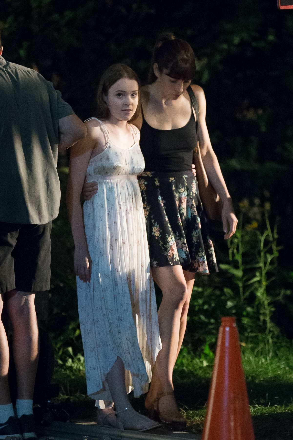 Jessica Biel filming The Sinner in New York