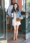 Jessica Gomes getting some Coffee while out on Shopping in West Hollywood