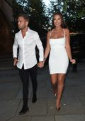 jessica shears and dom lever arrives at bar'ca bar and restaurant in manchester-240717_#