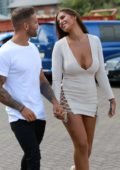 Jessica Shears and Dom Lever arrives at the Headquaters of a Clothing Company in Salford