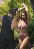 Jessica Shears in a Bikini for a Photoshoot by the Pool in Ibiza, Spain