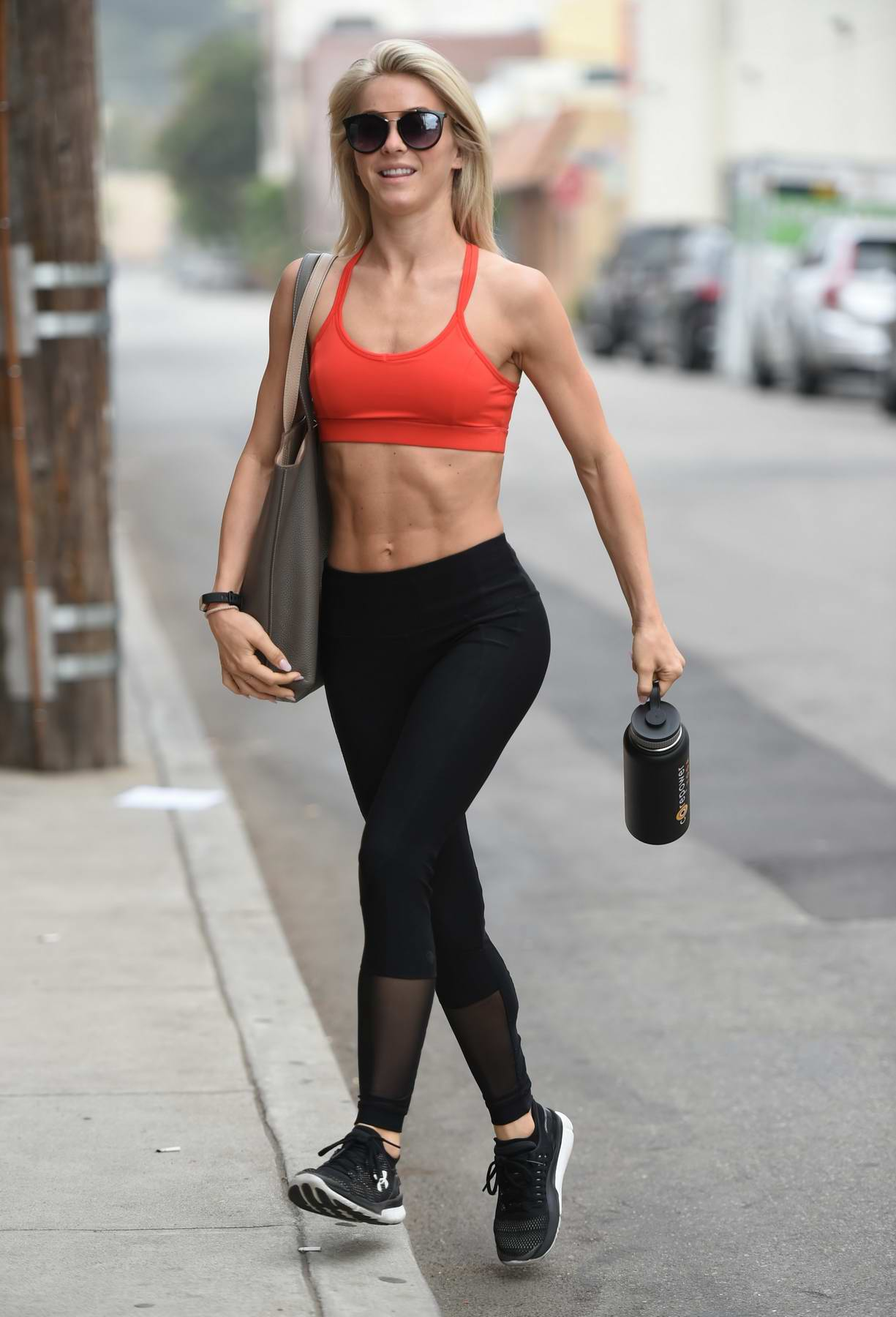 Julianne Hough leaving the Tracy Anderson Gym in Los Angeles