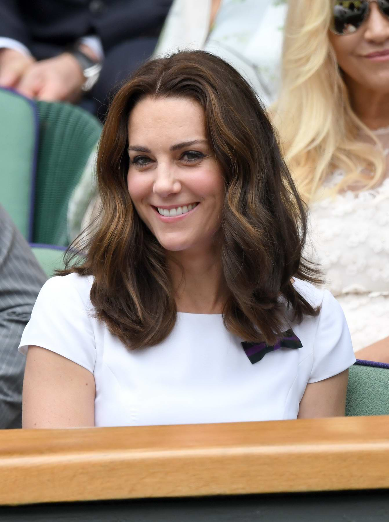 Kate Middleton attends the Men's Singles Final at the Wimbledon 2017 in London