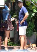Katharine McPhee out with her new boyfriend Nick Harborne after their Lunch at Fred Segal in West Hollywood