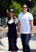 Katharine McPhee out with her new Boyfriend Nick Harborne at Melrose Avenue in Los Angeles