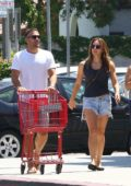Katharine McPhee shopping groceries at Trader Joes with boyfriend Nick Harborne in Los Angeles