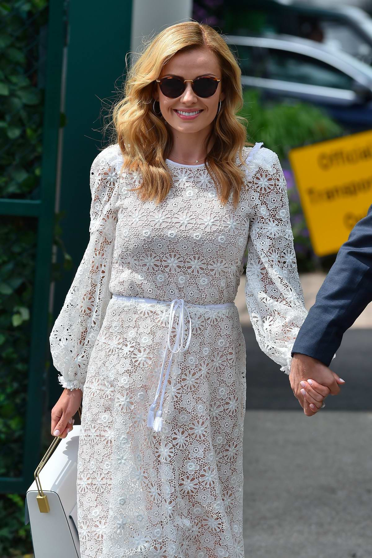 Katherine Jenkins arriving on the Day 11 at the 2017 Wimbledon in London