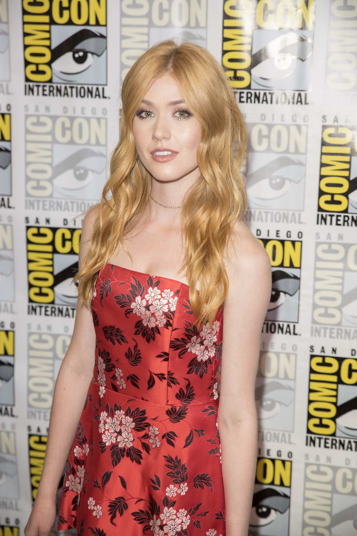 Katherine McNamara at Shadowhunters press line during Comic-Con International 2017 in San Diego