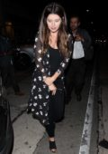 Katherine Schwarzenegger leaving after dinner at Craig's in West Hollywood