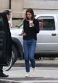 Katie Holmes in Jeans out in Montreal, Canada