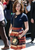 Kaya Scodelario at Chanel Show during Front Row Fall/Winter 2017 Haute Couture Fashion Week in Paris, France