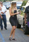 Khloe Kardashian and Tristan Thompson grab a bite at Benihana in Los Angeles