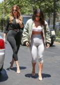 Kim Kardashian and Khloe Kardashian spotted filming for KUWTK at Chin Chin Restaurant in Studio City