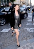 Laetitia Casta at Vogue Party at Musee Galliera at Paris Fashion Week in Paris, France