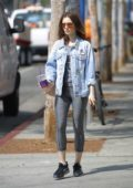 Lily Collins leaving after her Workout in Beverly Hills