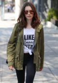 Lily Collins leaving Gym in West Hollywood