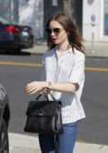 Lily Collins out for Shopping in Beverly Hills