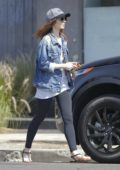 Lily Collins Running Errands in Beverly Hills
