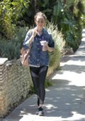Lily Collins spotted after a Workout grabbing some Ice Tea in Beverly Hills