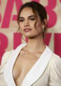 Lily James at the Baby Driver's Australian Premiere at Event Cinemas in Sydney, Australia