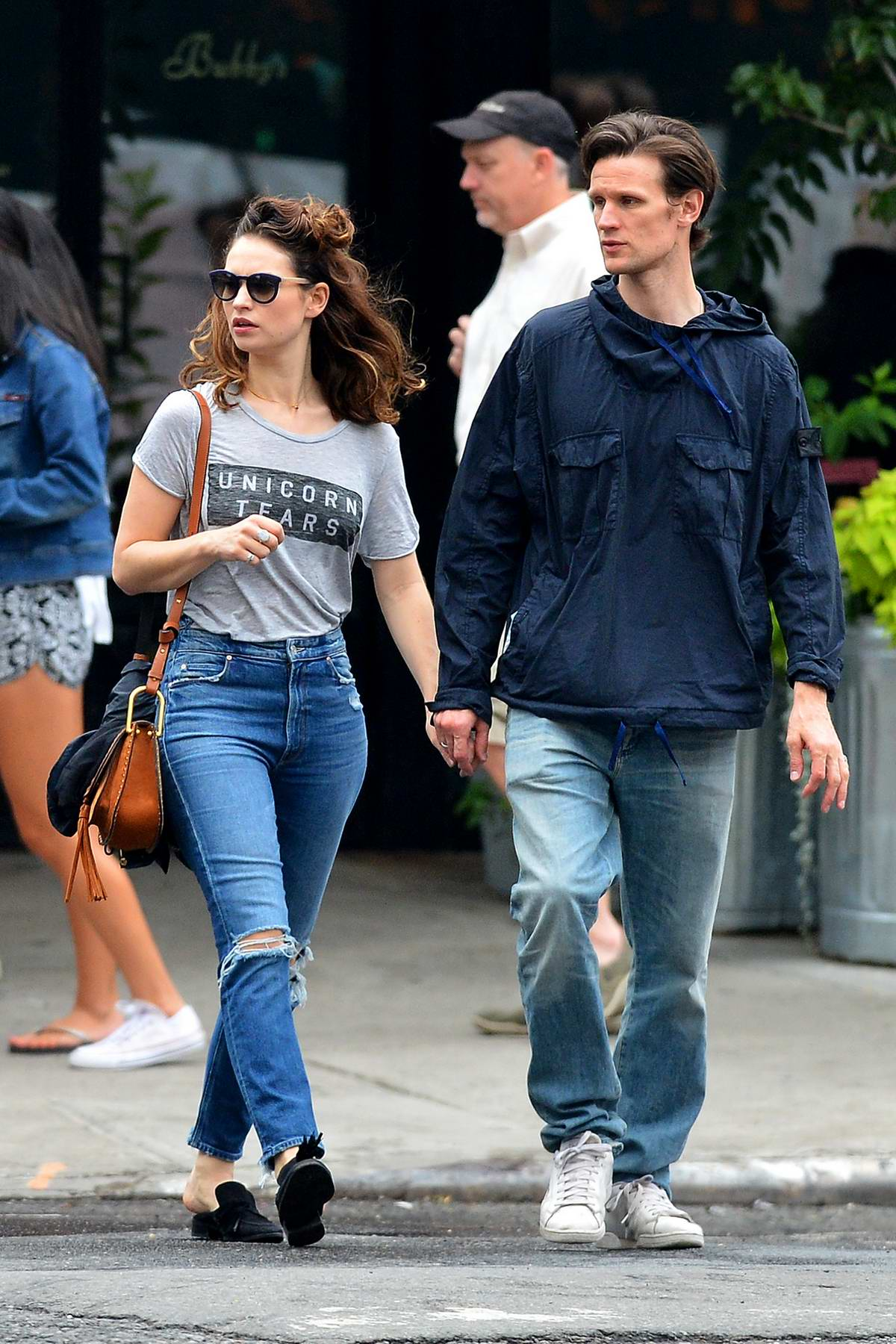 lily james enjoying a day out with boyfriend matt smith in