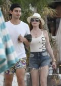 Lindsay Lohan head to the Beach in Mykonos, Greece
