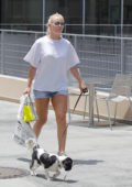 Lindsey Vonn out Shopping with her Dog in Beverly Hills