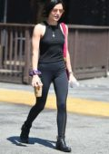 Lucy Hale out grabbing her morning coffee in Los Angeles